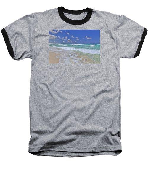 Cozumel Paradise Baseball T-Shirt by Chad Dutson
