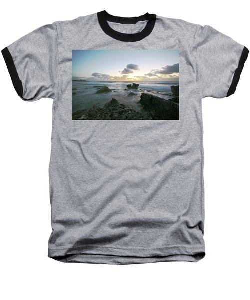 Cozumel Sunrise Baseball T-Shirt by Robert Och