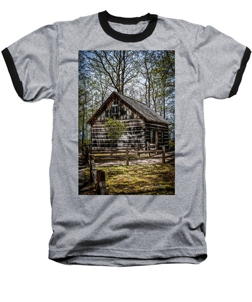 Cozy Cabin Baseball T-Shirt by Joann Copeland-Paul