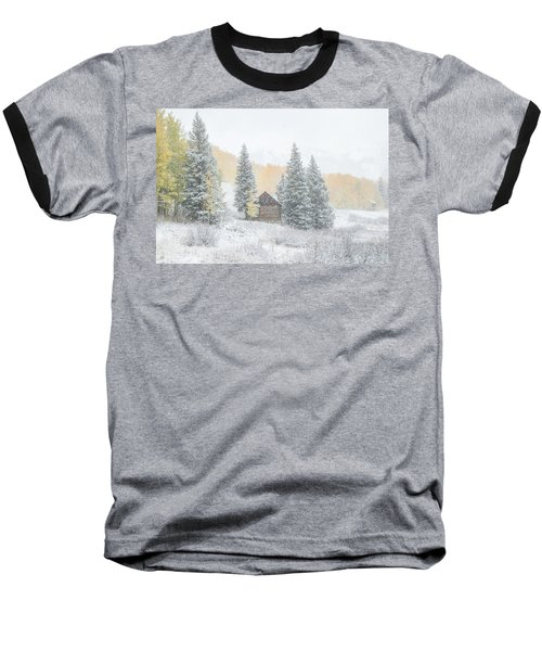 Baseball T-Shirt featuring the photograph Cozy Cabin by Kristal Kraft