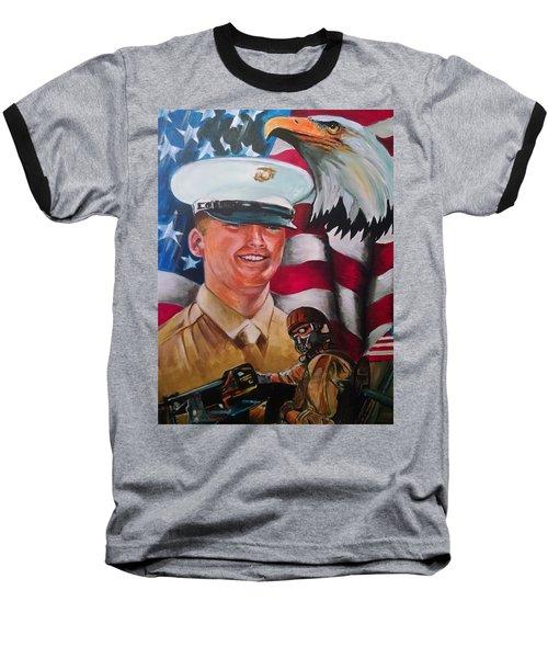 Cpl. Drown Baseball T-Shirt by Ken Pridgeon