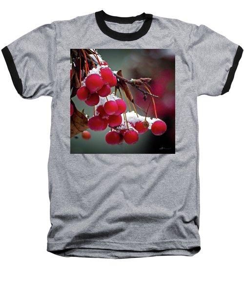 Crab Apples Snow Baseball T-Shirt