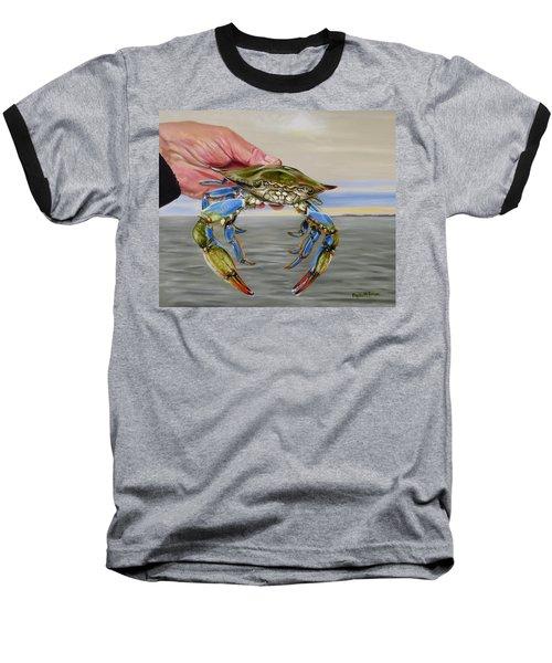 Crab Fingers Baseball T-Shirt by Phyllis Beiser