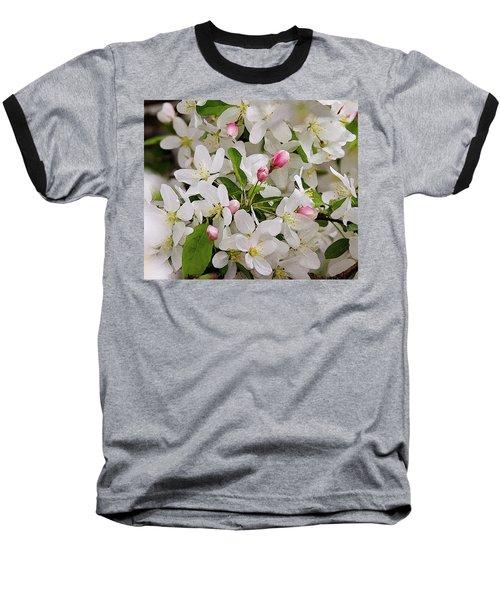 Crabapple Blossoms 5 Baseball T-Shirt