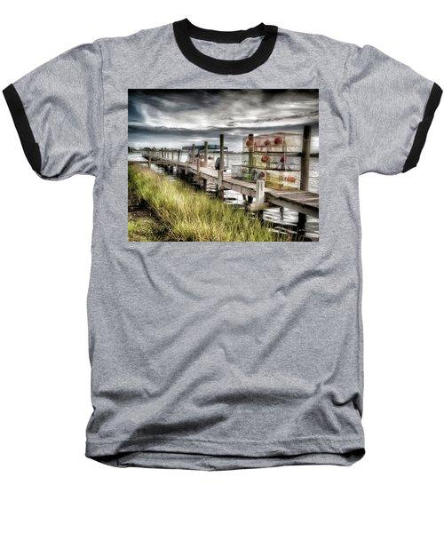 Crabber's Dock, Surf City, North Carolina Baseball T-Shirt