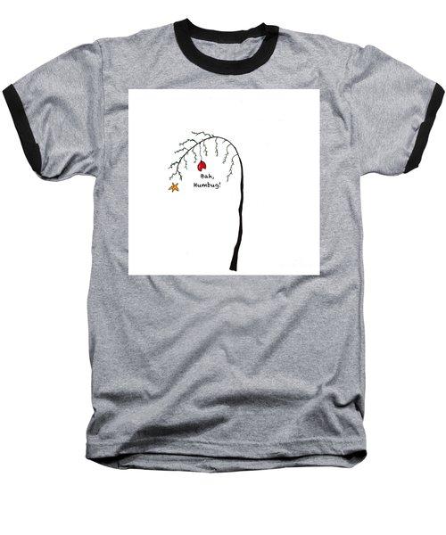 Crabby Bah Humbug Christmas Tree - Bah Humbug Baseball T-Shirt