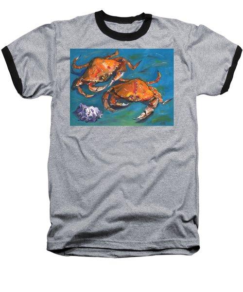 Crabs Baseball T-Shirt by Susan Thomas