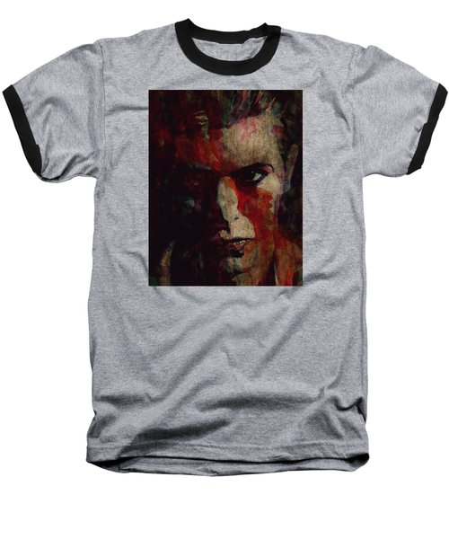 Cracked Actor Baseball T-Shirt by Paul Lovering