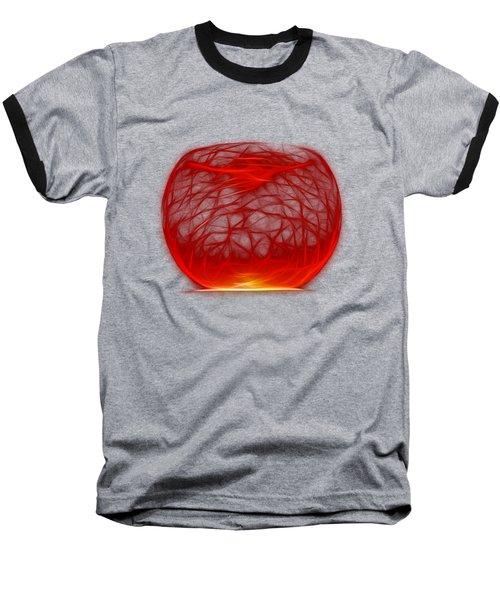 Cracked Glass 2 Baseball T-Shirt by Shane Bechler