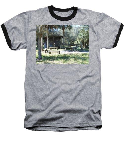 Cracker Cow Hunter Shack Baseball T-Shirt by Kay Gilley