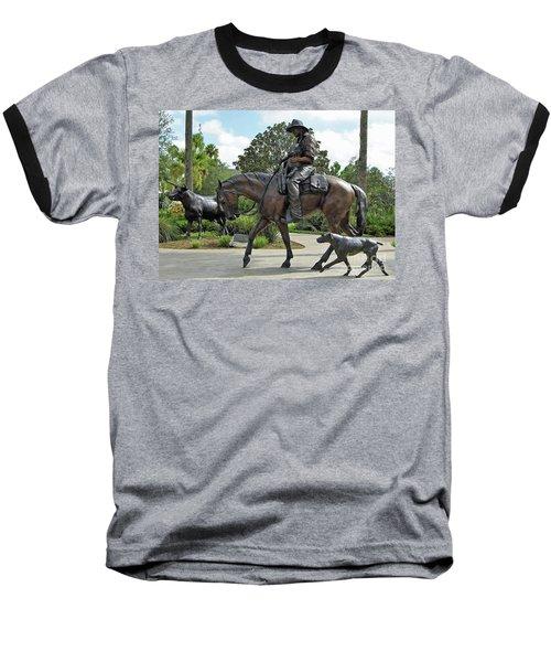 Cracker Cowboy And His Dog Baseball T-Shirt