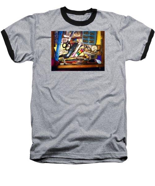 Craft Drawer Clutter Baseball T-Shirt