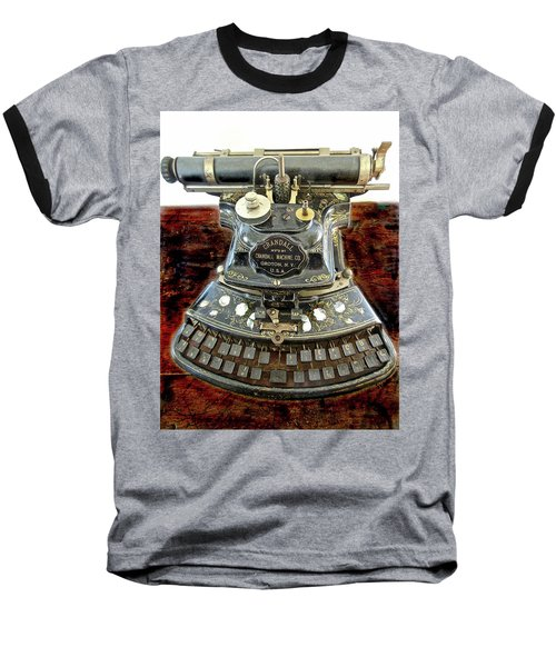 Crandall Type Writer 1893 Baseball T-Shirt