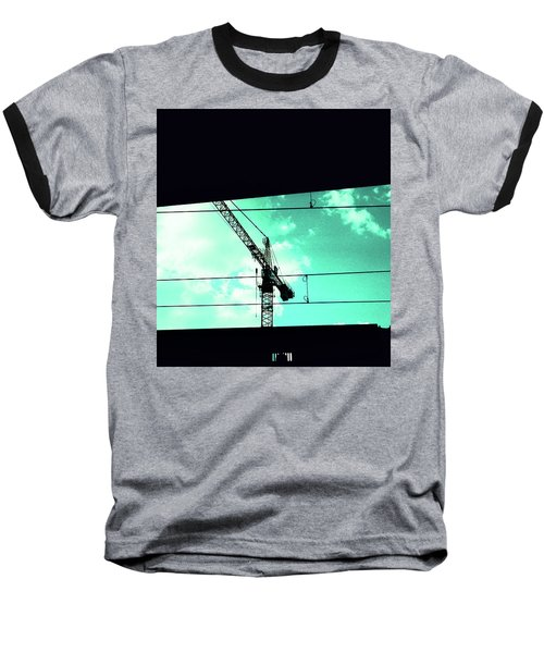 Crane And Shadows Baseball T-Shirt