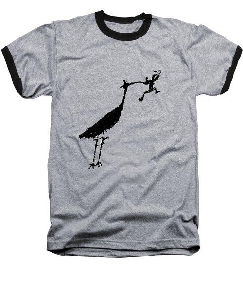 Crane Petroglyph Baseball T-Shirt