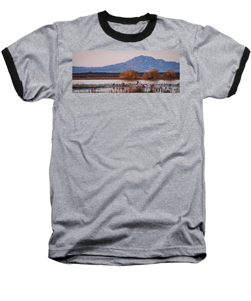 Cranes In The Morning Baseball T-Shirt