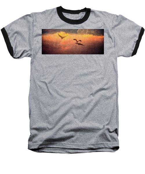 Cranes Lifting Into The Sky Baseball T-Shirt