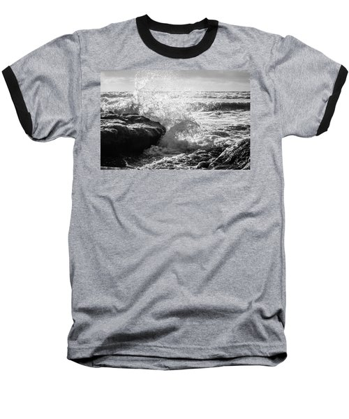 Wave Crashing  Baseball T-Shirt