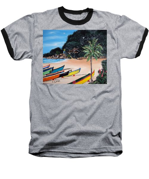 Crashboat Beach I Baseball T-Shirt by Luis F Rodriguez
