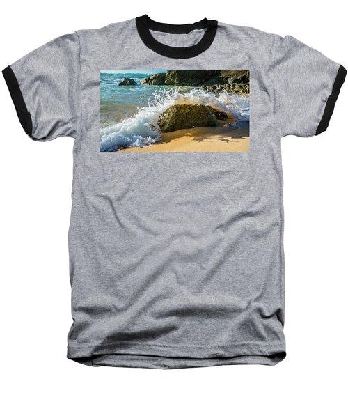 Crashing Over The Rock Baseball T-Shirt