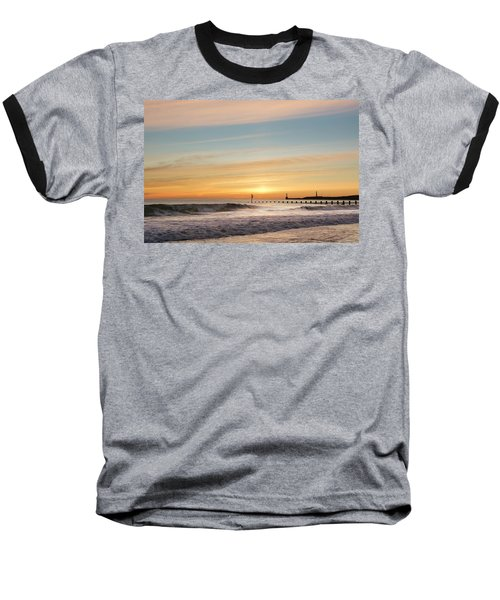 Crashing Waves At Aberdeen Beach Baseball T-Shirt