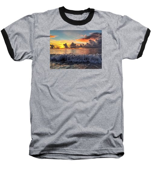 Crashing Waves Baseball T-Shirt