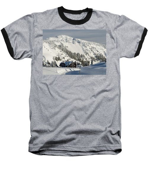 Crater Lake Lodge Baseball T-Shirt