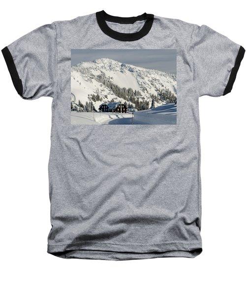 Crater Lake Lodge Baseball T-Shirt