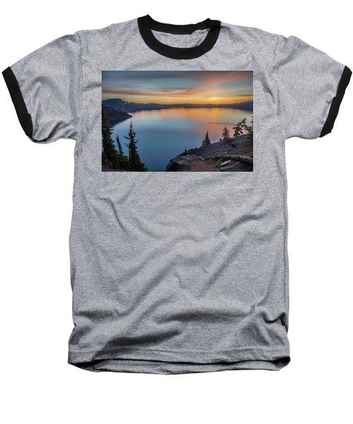 Crater Lake Morning No. 1 Baseball T-Shirt