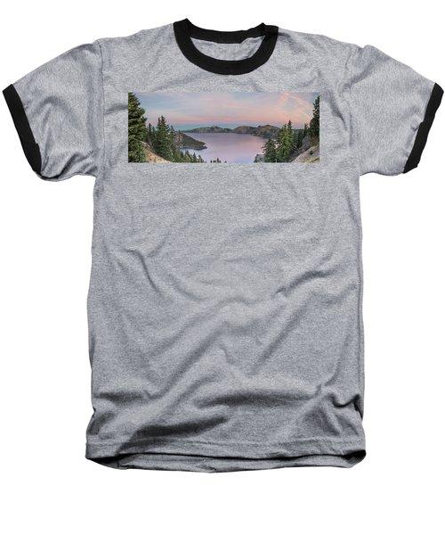 Crater Lake Sunset Baseball T-Shirt