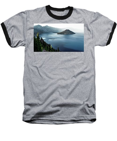 Baseball T-Shirt featuring the photograph Crater Lake Under A Siege by Eduard Moldoveanu