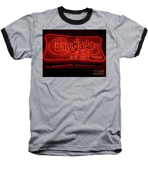 Craw Daddy Neon Sign Baseball T-Shirt