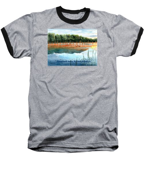 Crawford Lake Nature Estates Baseball T-Shirt by LeAnne Sowa