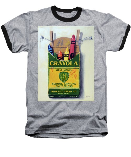 Baseball T-Shirt featuring the painting Crayola Crayons Painting by Linda Apple