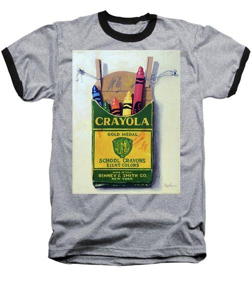Box Of Crayons Painting Baseball T-Shirt