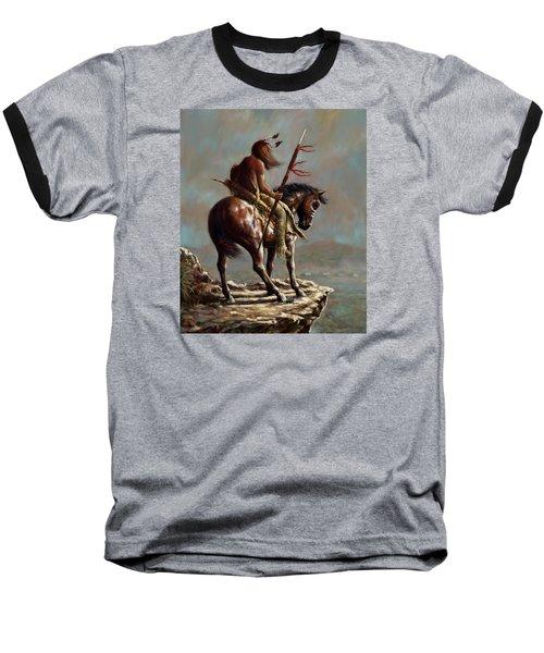 Crazy Horse_digital Study Baseball T-Shirt by Harvie Brown