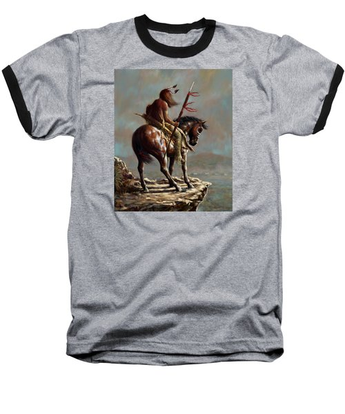 Crazy Horse_digital Study Baseball T-Shirt