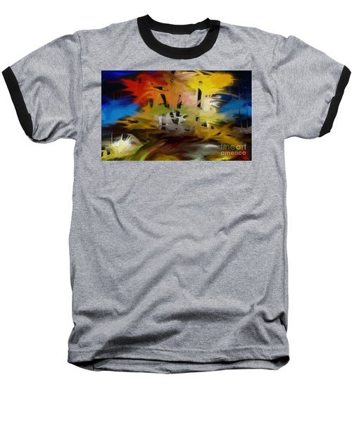 Baseball T-Shirt featuring the painting Crazy Nature by Rushan Ruzaick