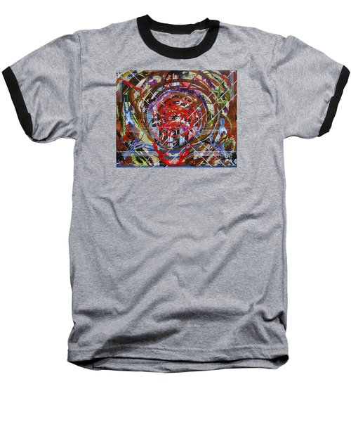 Baseball T-Shirt featuring the painting Crazy Quilt Star Dream by Stuart Engel