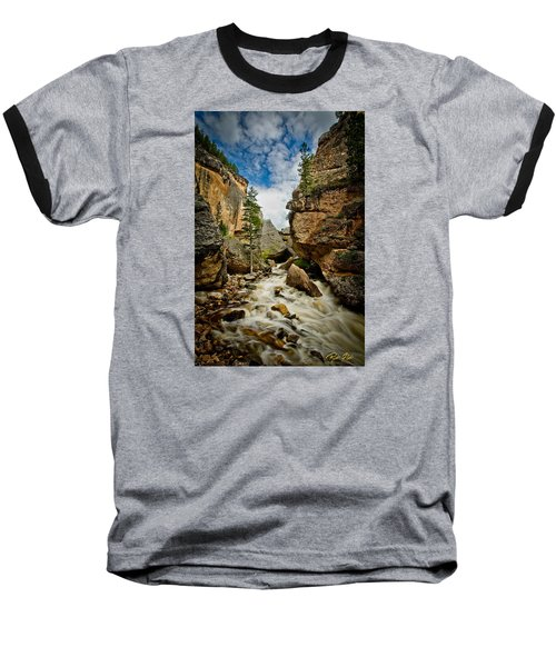 Crazy Woman Canyon Baseball T-Shirt by Rikk Flohr