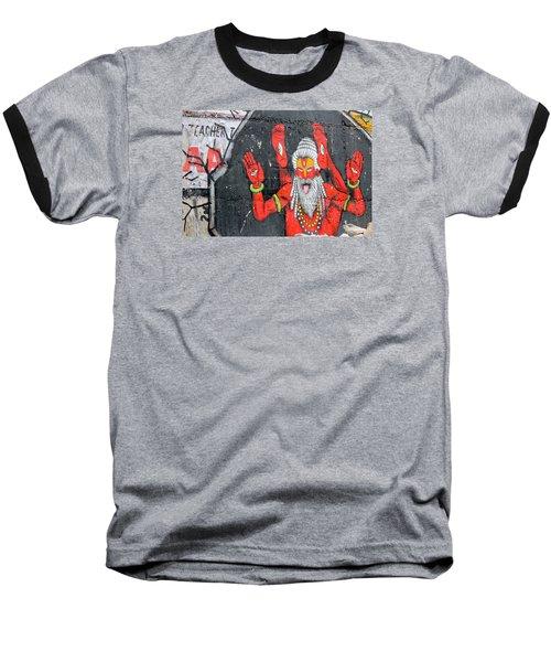 Crazy Yogi, Rishikesh Baseball T-Shirt