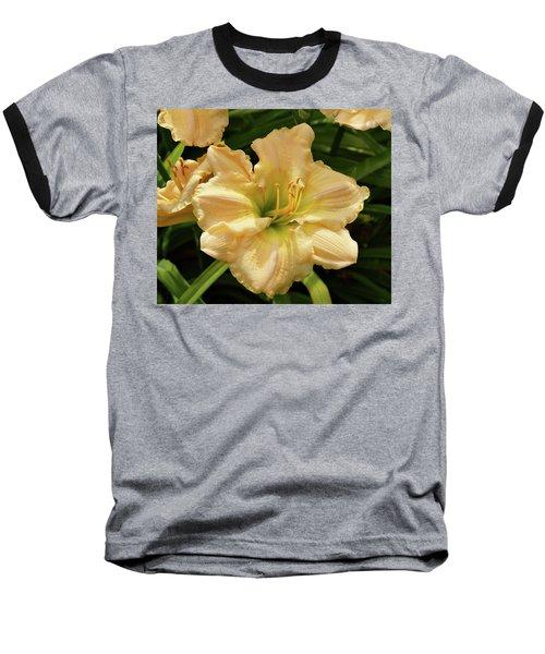Baseball T-Shirt featuring the photograph Cream Daylily by Sandy Keeton