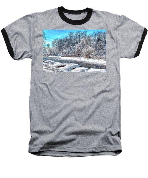 Credit River At Winter Baseball T-Shirt