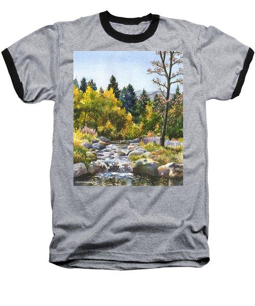 Creek At Caribou Ranch Baseball T-Shirt by Anne Gifford