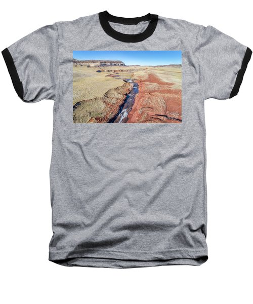 creek at  Colorado foothills - aerial view Baseball T-Shirt