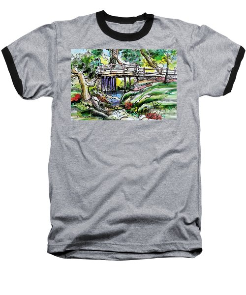 Creek Bed And Bridge Baseball T-Shirt