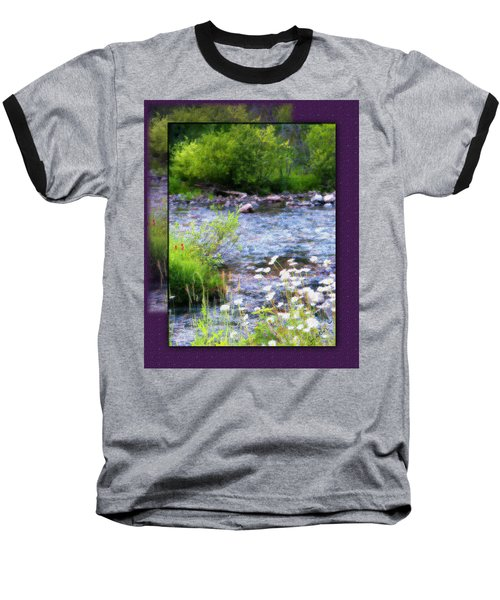Baseball T-Shirt featuring the photograph Creek Daisys by Susan Kinney