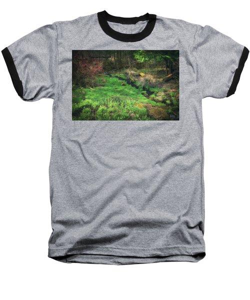 Creek - Spring At Retzer Nature Center Baseball T-Shirt by Jennifer Rondinelli Reilly - Fine Art Photography