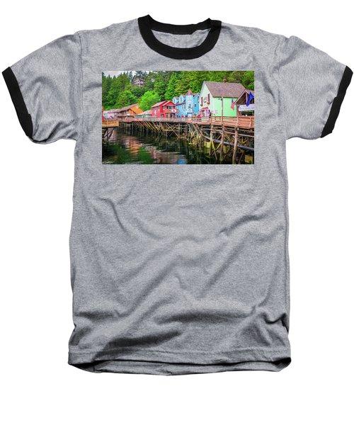 Creek Street Ketchikan Alaska Baseball T-Shirt