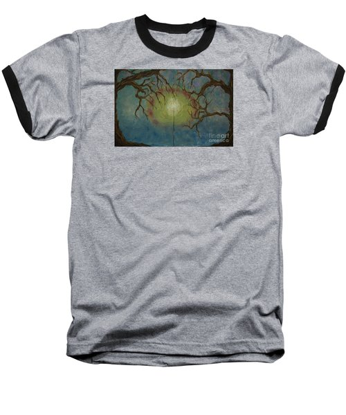 Baseball T-Shirt featuring the painting Creeping by Jacqueline Athmann